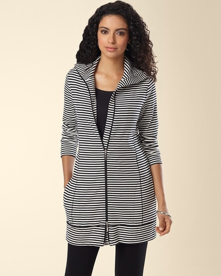 Divine Terry Zip Jacket Shelbourne Stripe