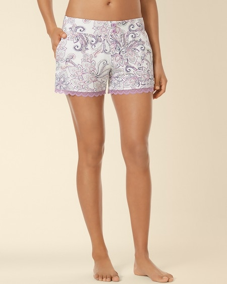 Lace Sleep Short Passport Paisley Ivory