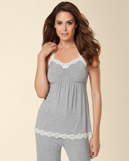 Lace Sleep Cami Little Dot Heather Silver