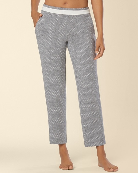 Ankle Pajama Pant Little Dot Heather Silver