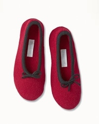 Arlotta Drawcord Cashmere Slippers Bordeaux/Black