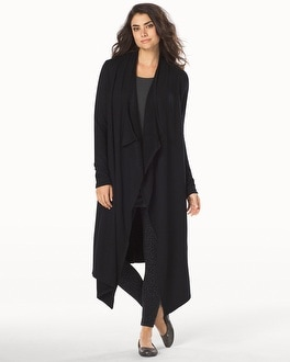 Live. Lounge. Wear. Open Fleece Wrap Black