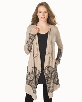 Divine Terry Drape Front Wrap Heather Gold
