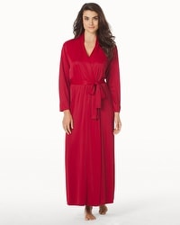 Natori Long Slinky Robe Bed Red