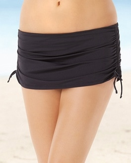 Tommy Bahama Adjustable Swim Skirt Bottom Black