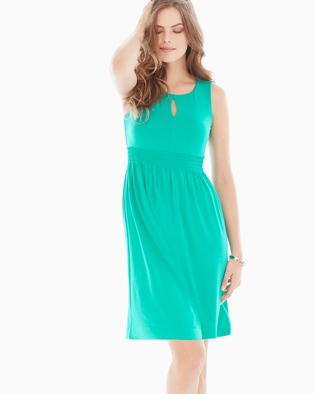 Sleeveless Keyhole Short Dress Atlantis Jade