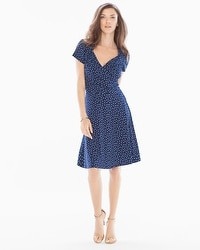 Leota Sweetheart Short Dress Confetti Navy/Powder Blue