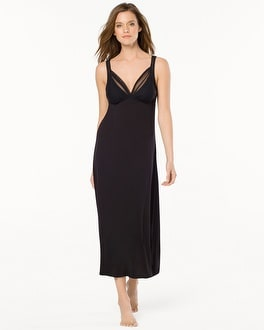 Oscar de la Renta Pure Romance Nightgown Black