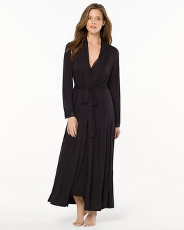Oscar de la Renta Pure Romance Long Robe Black