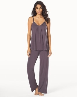 Midnight by Carole Hochman Reve de Chantilly Pajama Set Sweet Truffle