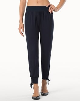 Midnight by Carole Hochman Lounge Crop Pants Midnight