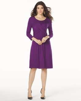 Twist Front Short Dress Majestic Plum
