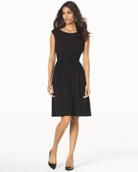 Muse Fit and Flare Black Dress