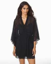 Natori Ophelia Short Sheer Wrap Black