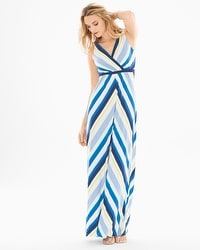 Surplice Tank Maxi Dress Valencia Stripe
