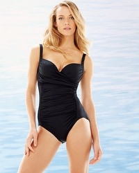 Soma Swim Slimming One Piece Swimsuit Black