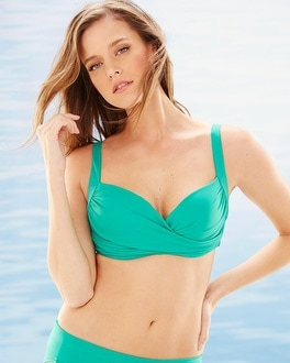 Soma Swim Bra Cup Sized Bikini Top Atlandis Jade