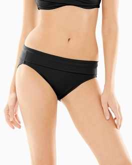 Soma Swim Slimming Foldover Hipster Bottom Black