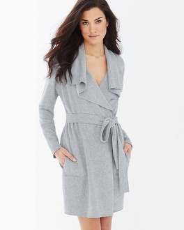 iRelax Baby Terry Cotton Blend Short Robe Heather Grey