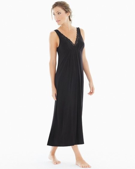 Luxe Jersey Nightgown Black
