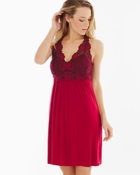 Limited Edition Spring Bloom Sleep Chemise Ruby/Black