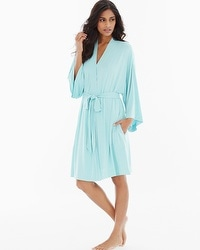 Cool Nights Short Robe Eggshell Blue