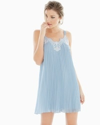 Luxe Pleated Sleep Chemise Celestial Blue