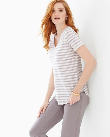 Premium Cotton Tee Amazing Stripe Taupe