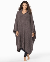 Barefoot Dreams Cozychic Long Ribbed Wrap Charcoal