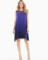 Chiffon Overlay Short Dress Serene Ombre Royal