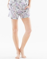 Embraceable Cool Nights Pajama Shorts Lustrous Multi Ivory