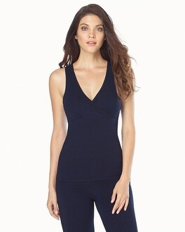 Naked Essential Cotton Blend Tank Peacoat Blue