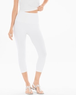 Slimming Crop Leggings Bright White