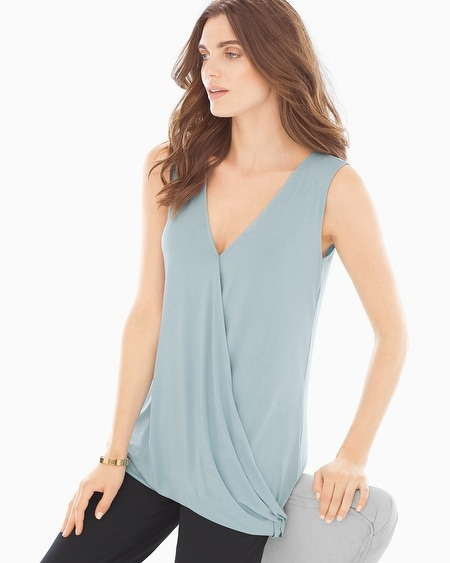 Sleeveless Wrap Top Tourmaline