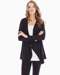 Live. Lounge. Wear. Soft Jersey Lounge Wrap Black