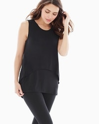 Midnight by Carole Hochman Lounge Black Tank Black