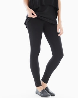 Midnight by Carole Hochman Lounge Black Leggings Black