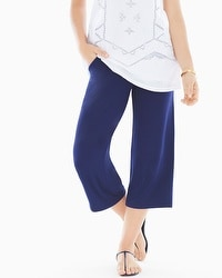 Live. Lounge. Wear. Wide-Leg Crop Pants Navy