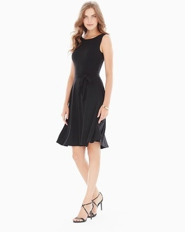 Leota Ilana Sleeveless Reversible Dress Black