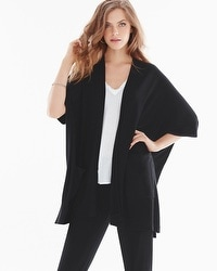 Natori Terry Square Topper Wrap Black