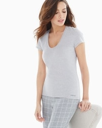 Naked Essential Cotton Blend Tee Metro Gray Heather