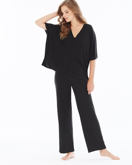 Shangri La Tunic Black Pajama Set