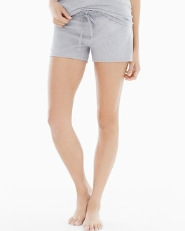 Naked Cotton Essential Pajama Shorts with Trim Metro Gray Heather