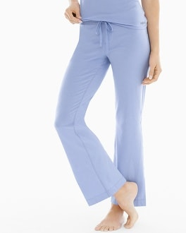 Naked Essential Cotton Blend Pajama Pants with Trim Lavender Luster