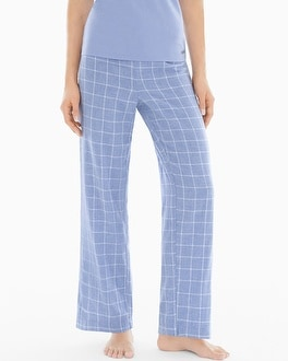 Naked Essential Cotton Pajama Pants Plaid Lavender Luster