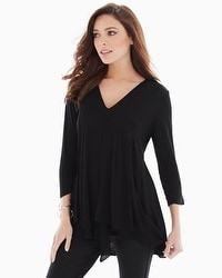 Miraclebody by Miraclesuit Alyse Asymmetrical Top Black