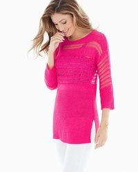 Miraclebody by Miraclesuit Drew Yarn Sweater Fuchsia