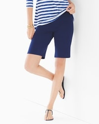 Premium Cotton Bermuda Shorts Navy