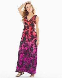 Wrapped Maxi Dress Palmscape Ombre