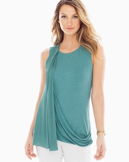 Miraclebody Slimming Gigi Side-Drape Top Patina
